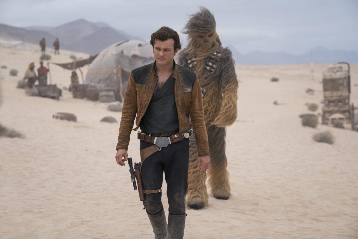"""Alden Ehrenreich and Joonas Suotamo in """"Solo: A Star Wars Story."""""""