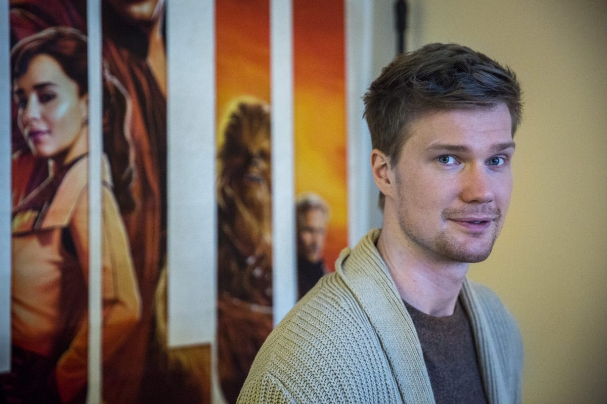 Finnish actor and Penn State grad Joonas Suotamo was in Philadelphia Monday to talk about his role as Chewbacca in the upcoming film Solo: A Star Wars Story. Suotamo took the role over from actor Peter Mayhew.
