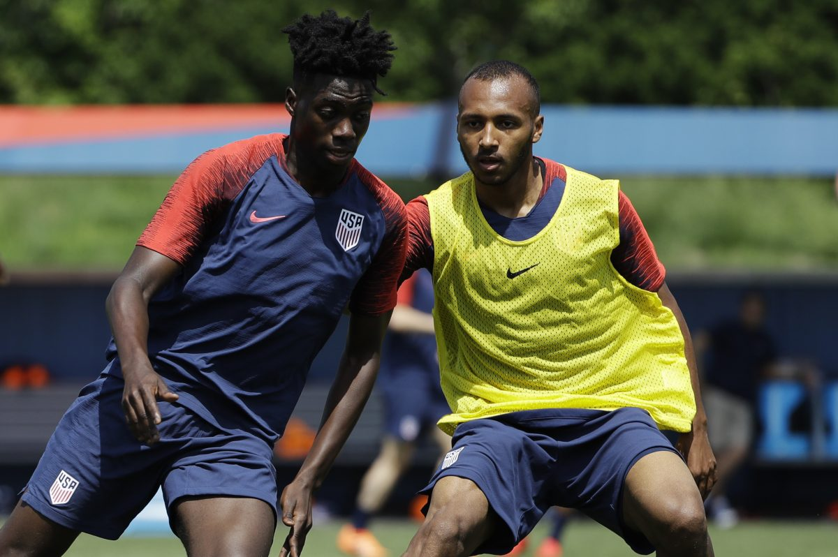 Julian Green (right) is back with the United States men´s national soccer team for the first time since Jurgen Klinsmann was fired in late 2016.