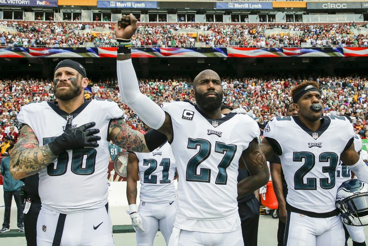 Chris Long and Malcolm Jenkins both condemned the NFL for its new policy.