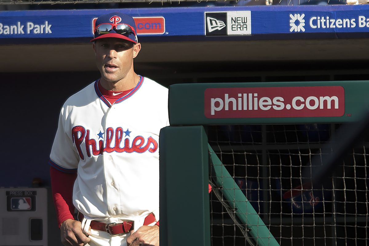 Phillies manager Gabe Kapler looks on during a game against the Pirates.