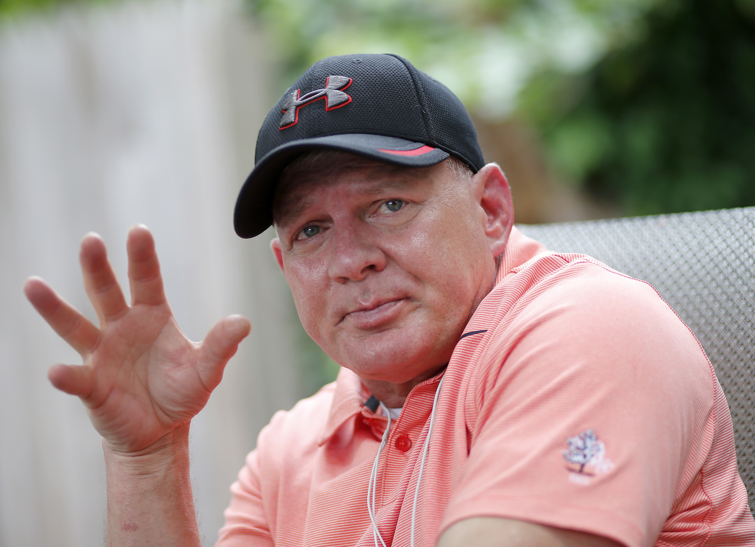 Lenny Dykstra at the home of his doctor.