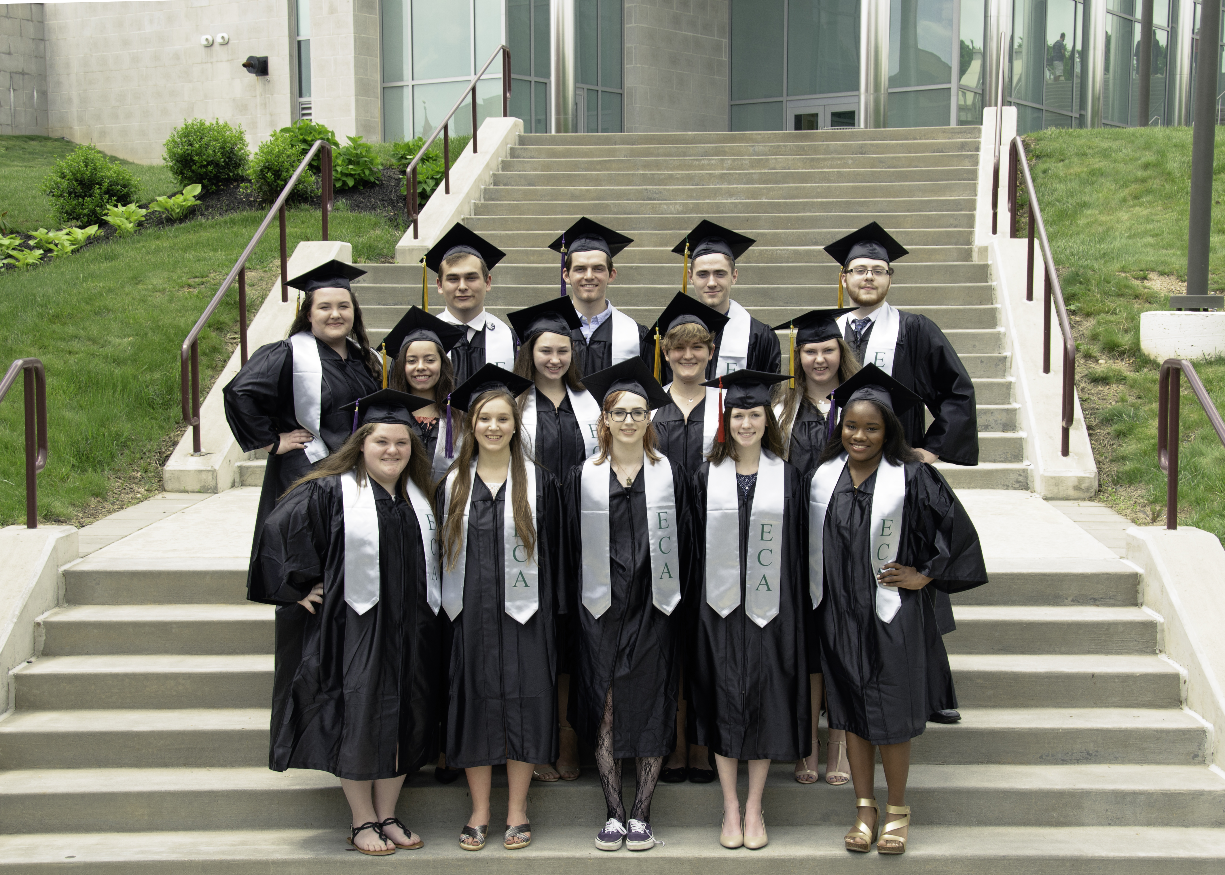 Fifteen Oxford Area High School seniors received associates degrees from Cecil College last week as part of a dual enrollment program that they started four years ago.