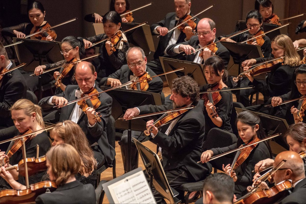 Philadelphia Orchestra musicians performing in Brussels Thursday.