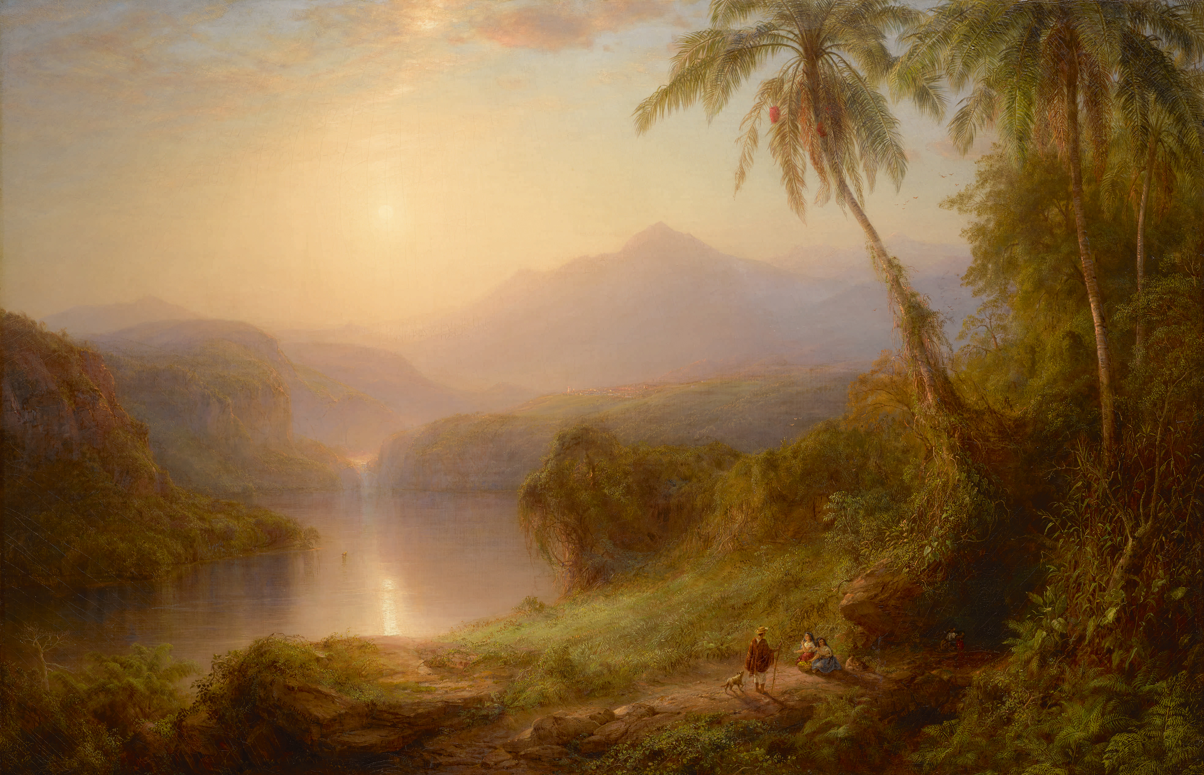 "Hudson River School painter Frederic Church´s ""Valley of Santa Isabel, New Granada"" will be coming to PAFA soon."