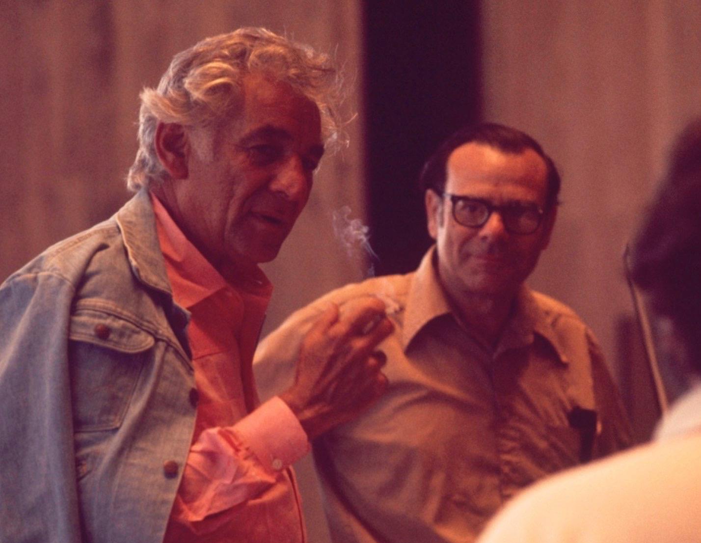 Philadelphia Orchestra violinist George Dreyfus with Leonard Bernstein in an updated photo.