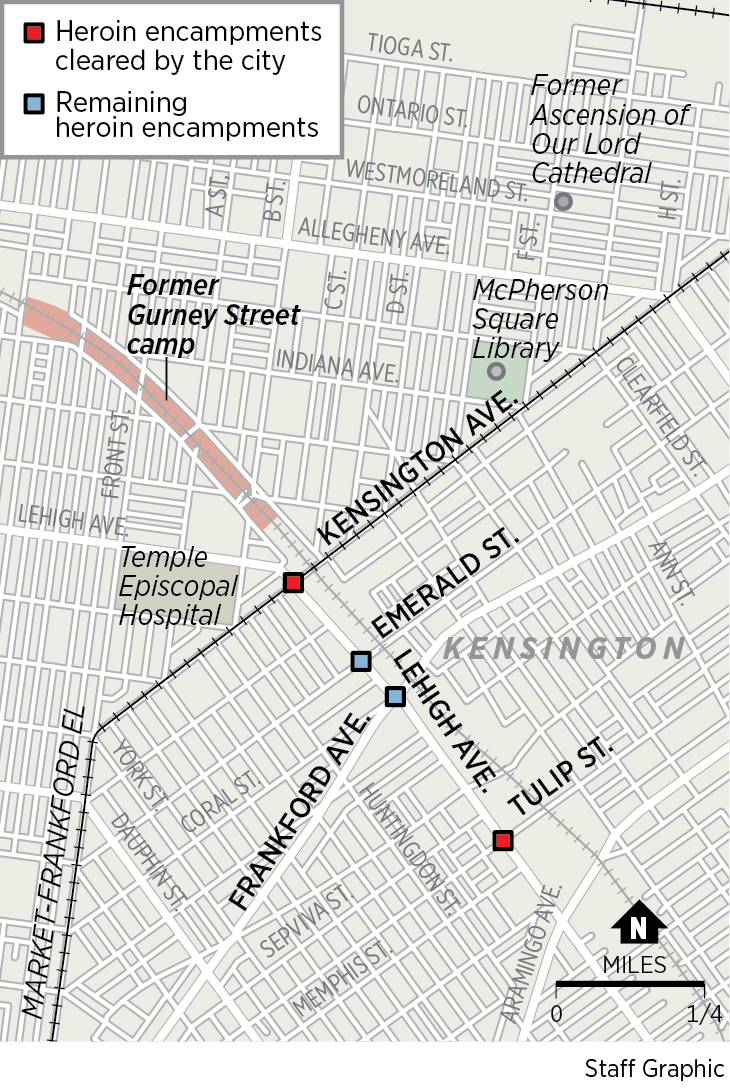 map of kensington philadelphia Philadelphia Sweeps Aside 2 Heroin Camps In Kensington What map of kensington philadelphia