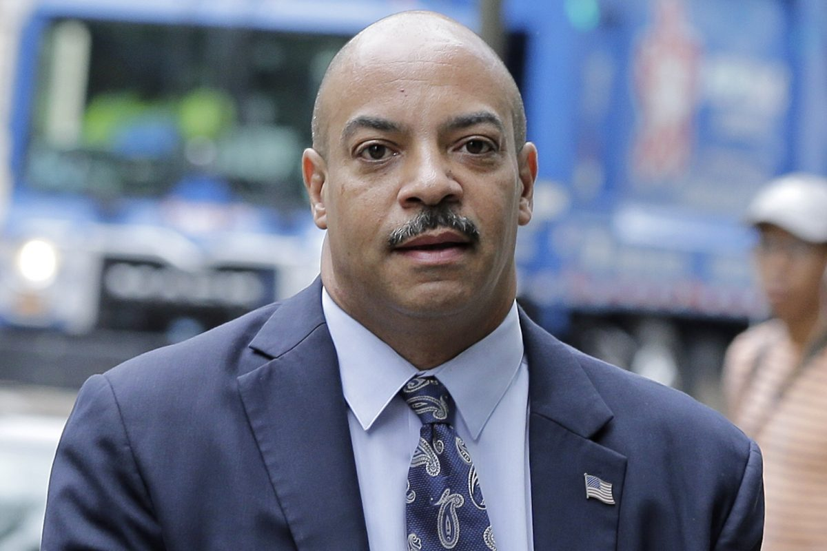 District Attorney Seth Williams arrives for a pretrial hearing at the U.S. Courthouse in Philadelphia on June 14, 2017.