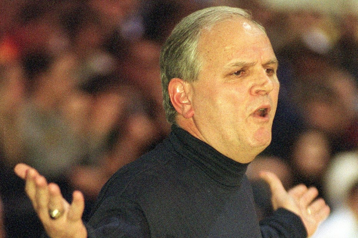 Former Cardinal O'Hara boys' basketball coach Bud Gardler during a game in 2002.