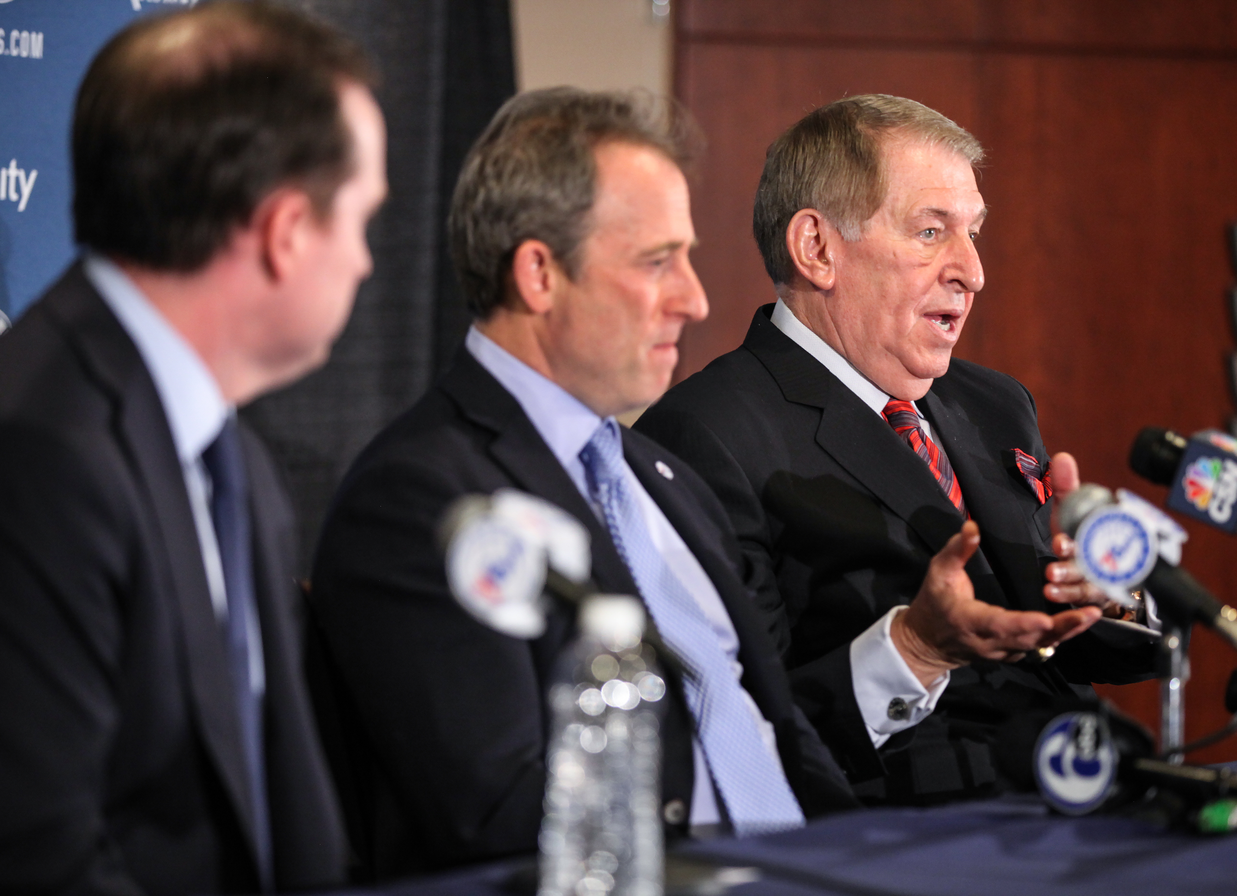 The 76ers had hired Jerry Colangelo (right) in December 2015 to be their chairman of basketball operations.