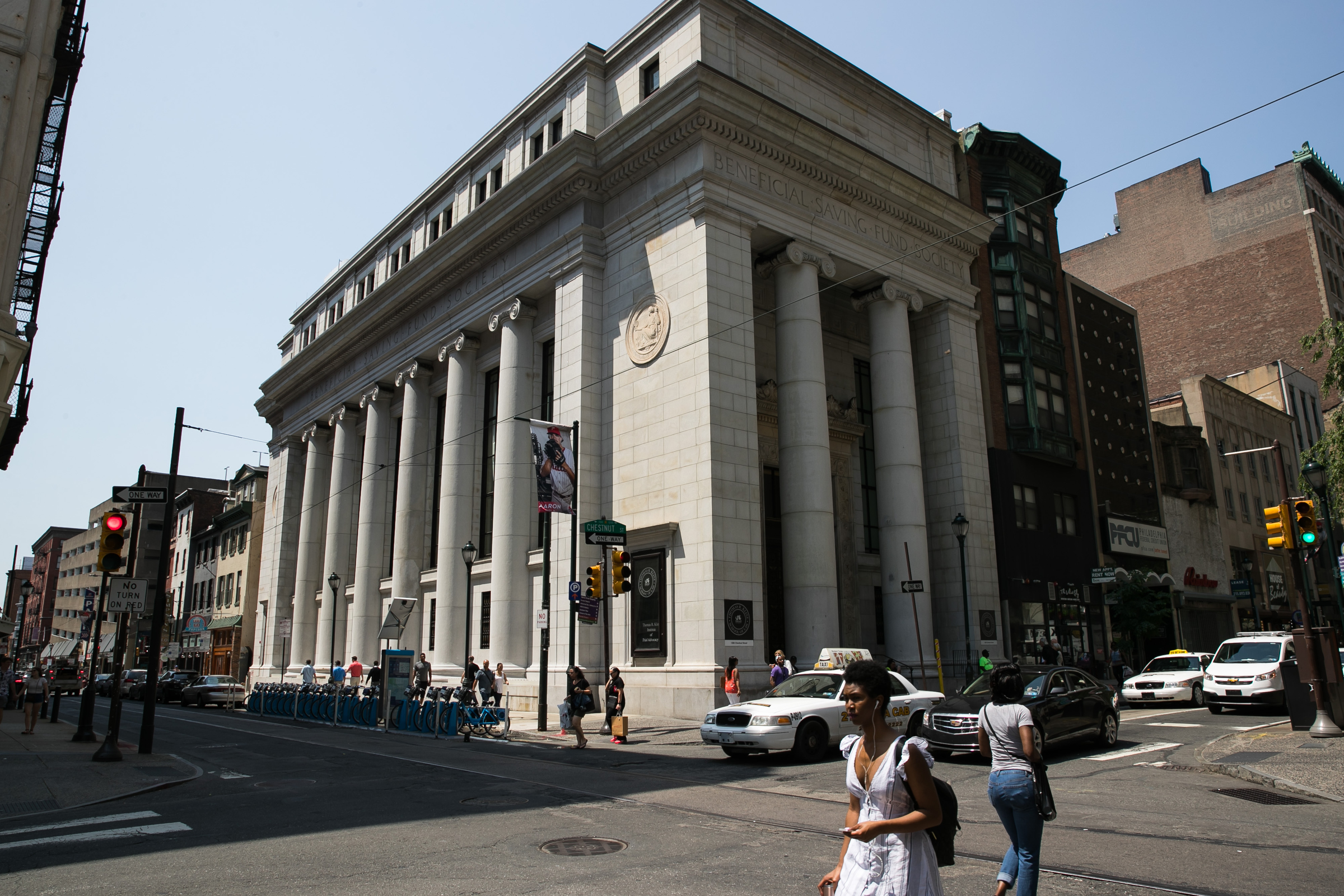 Horace Trumbauer´s neoclassical bank dominates the corner of 12th and Chestnut. It´s now the Kline Instiute for Trial Advocacy.