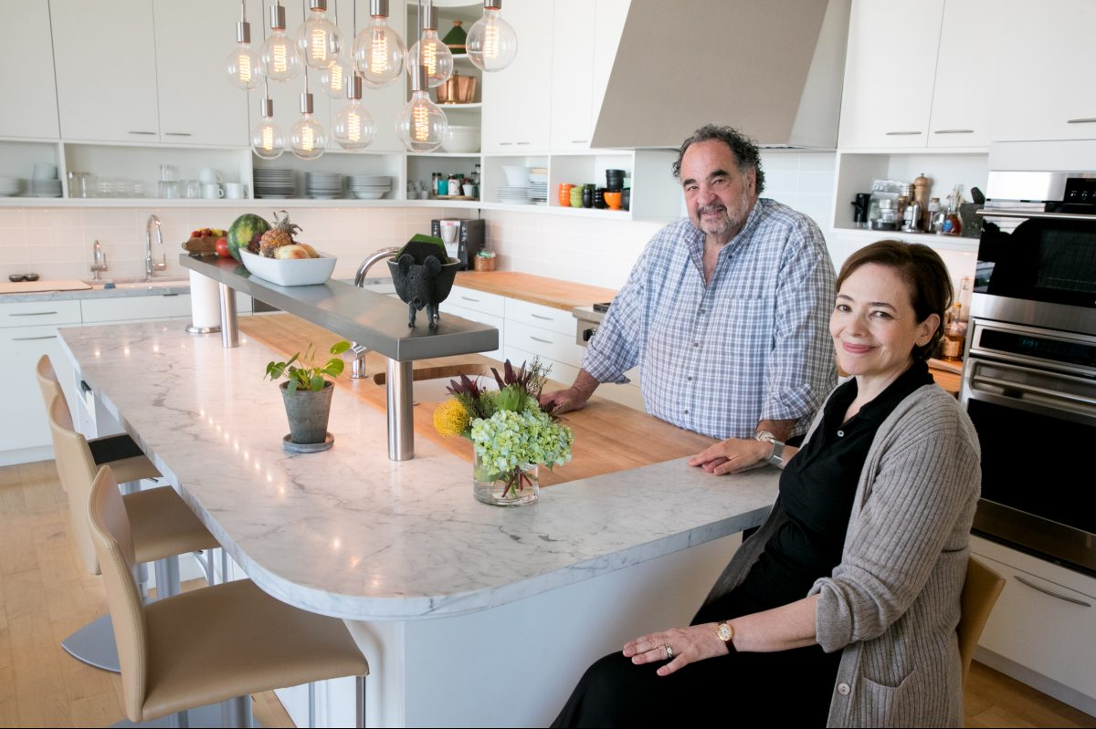 """""""I love his cooking,"""" Christina Sterner says about her husband, Steve Poses. """"I never cook, and he enjoys it all."""" The couple also takes advantage of the South Philadelphia restaurant scene."""