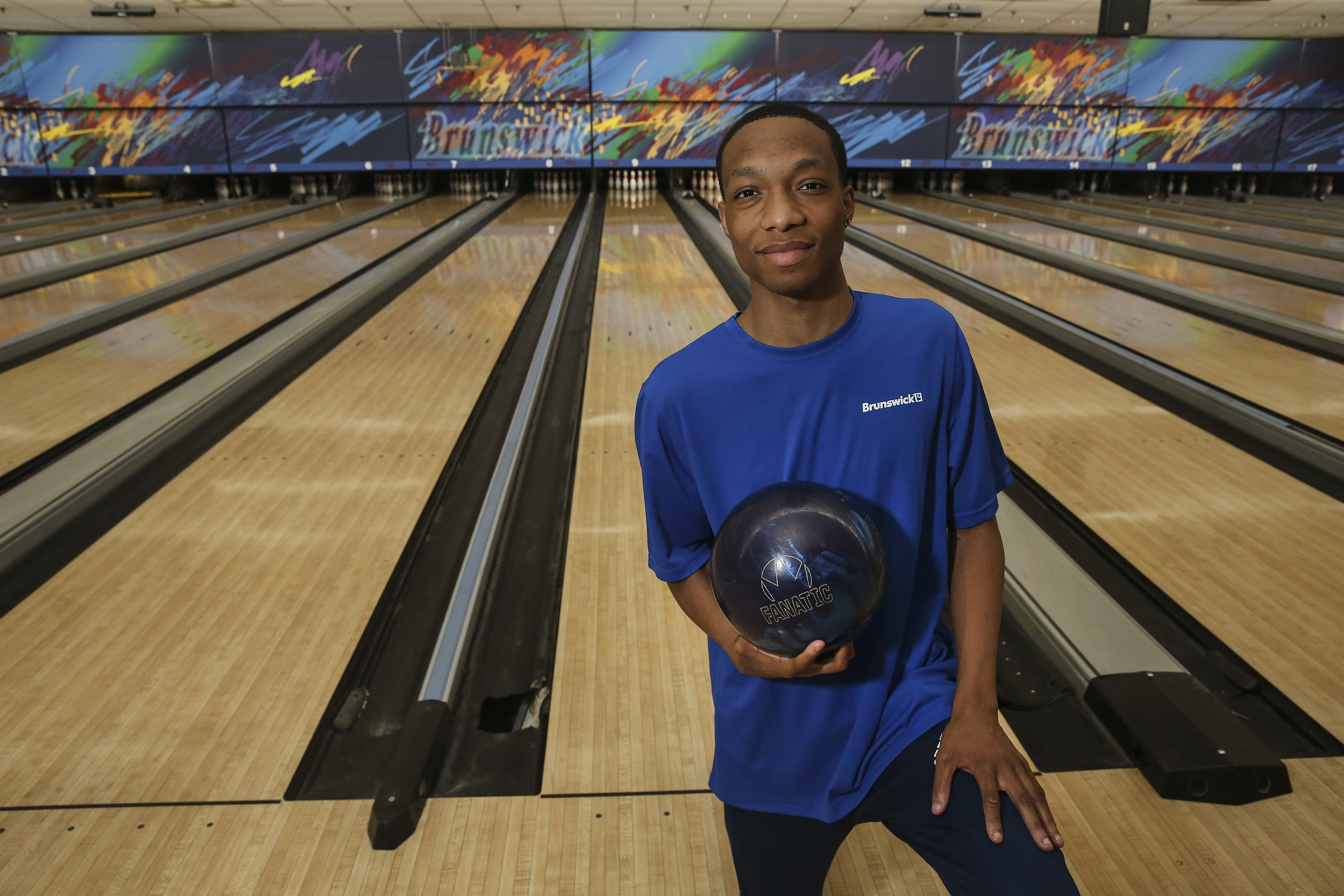 Christopher Johnson, a senior at Lankenau High School, is heading to a North Carolina college on a bowling scholarship that will cover his room and board all four years. At Erie Lanes, Wednesday May 30, 2018