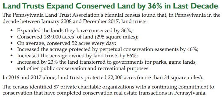 2017 Pennsylvania Land Trust Report