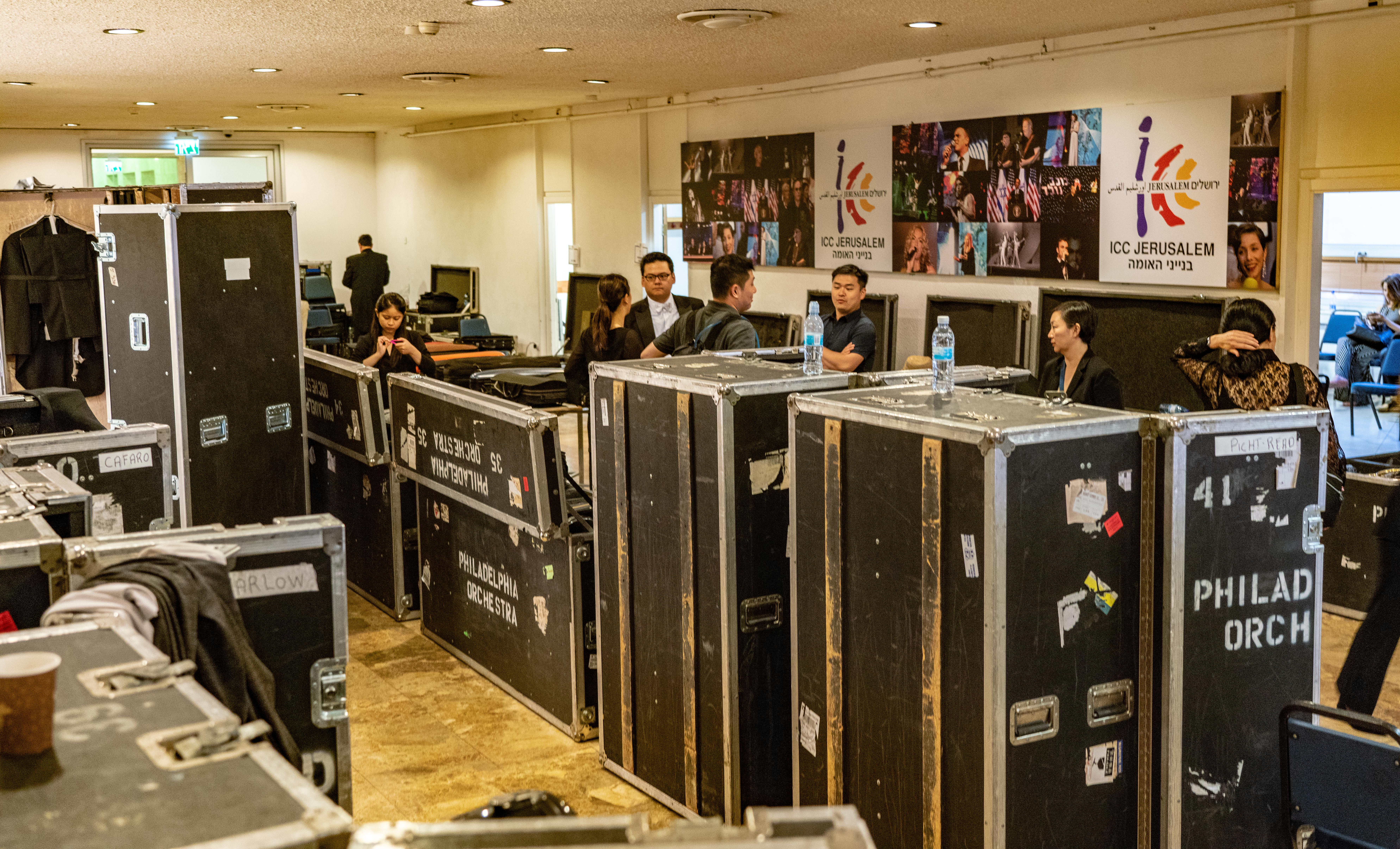 Behind the scenes at the ICC Center Jerusalem, where the Philadelphia Orchestra played the final concert of its 2018 Tour of Europe and Israel.