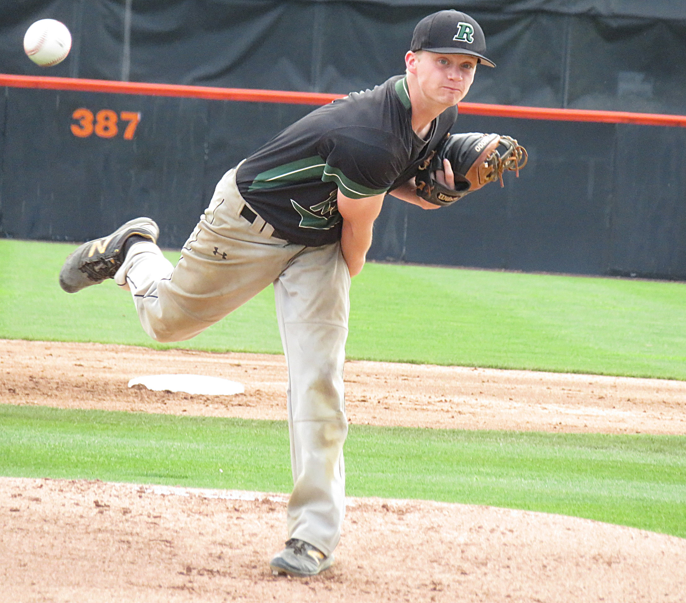 Ratitan´s Zack Johnston improved to 8-1 with the complete game win in a 5-1 victory over Haddonfield.