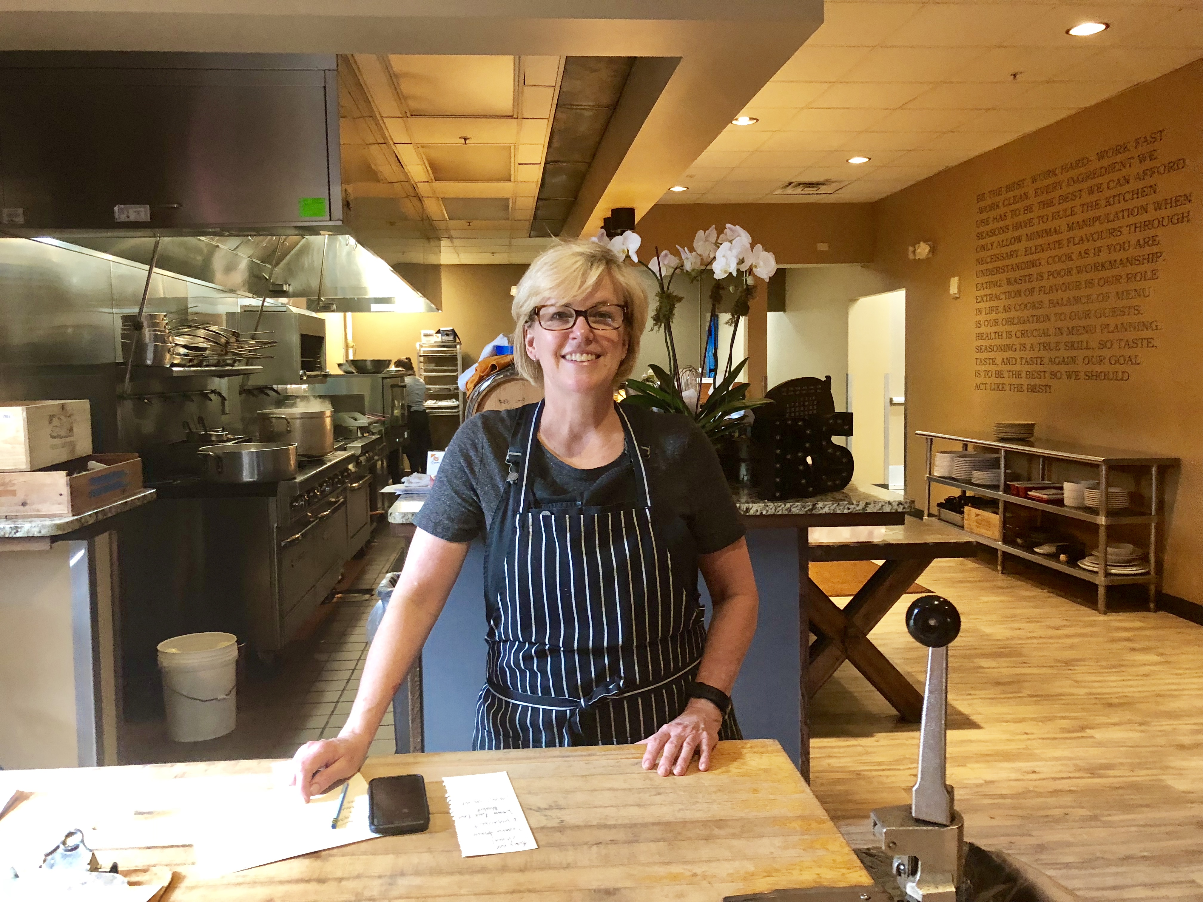 Chef-owner Kathleen Blake stands in her kitchen at the Rusty Spoon in downtown Orlando, where she´s been a pioneer in the local farm-to-table movement.