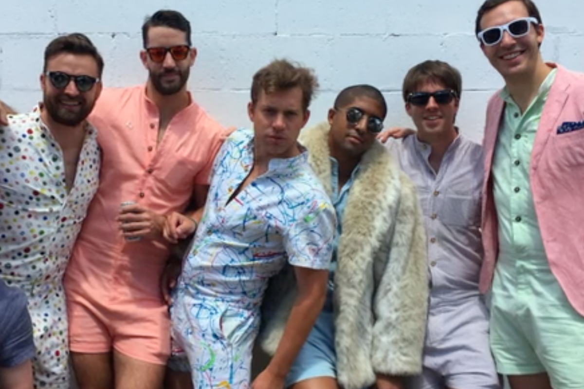 How can you not find joy in the new romper for men?