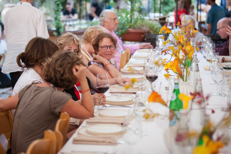 """Debbie Fleischman at Zahav chef Michael Solomonov´s """"Dinner in the Desert June 6."""