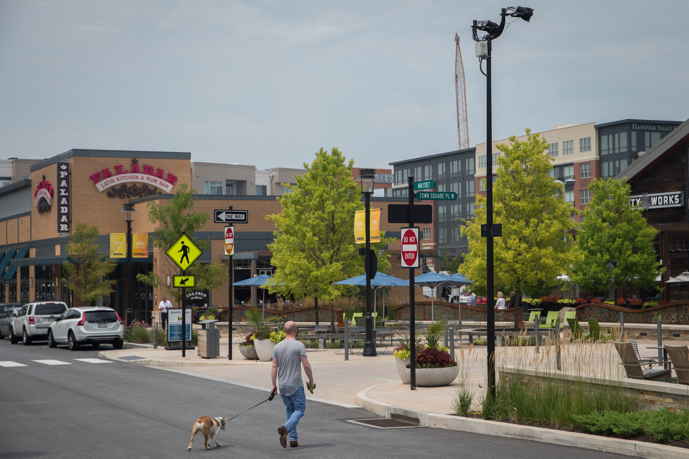 King of Prussia Town Center, situated near I-76 and King of Prussia Mall, July 13th, 2017.