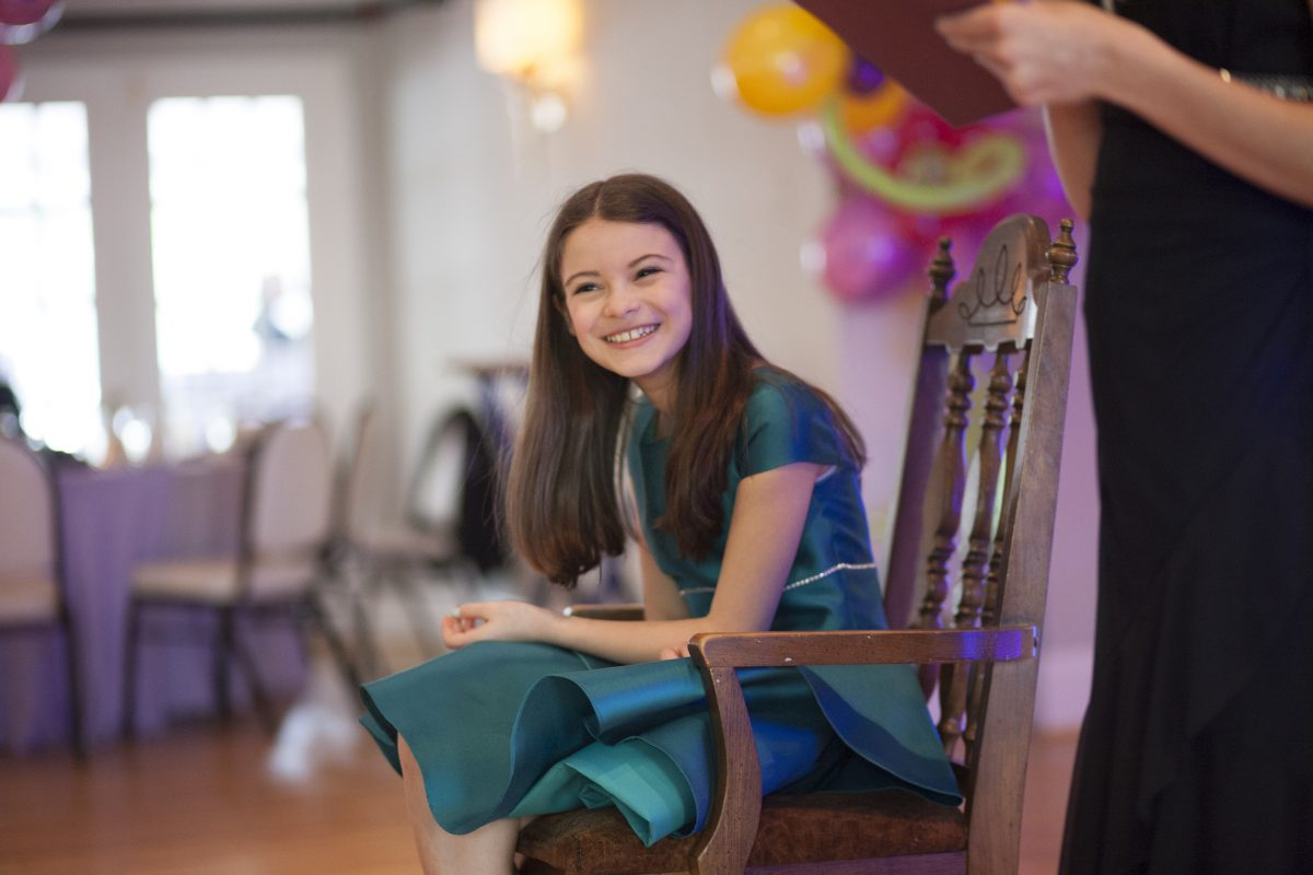 Noa Spanier, now 14, celebrating her bat mitzvah last year.