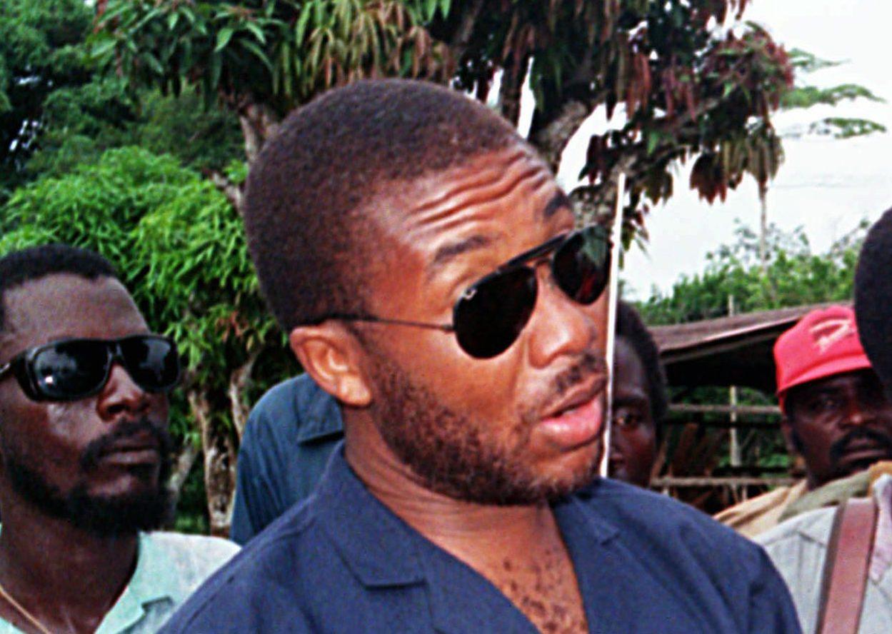 Liberian warlord Charles Taylor in May 1990.