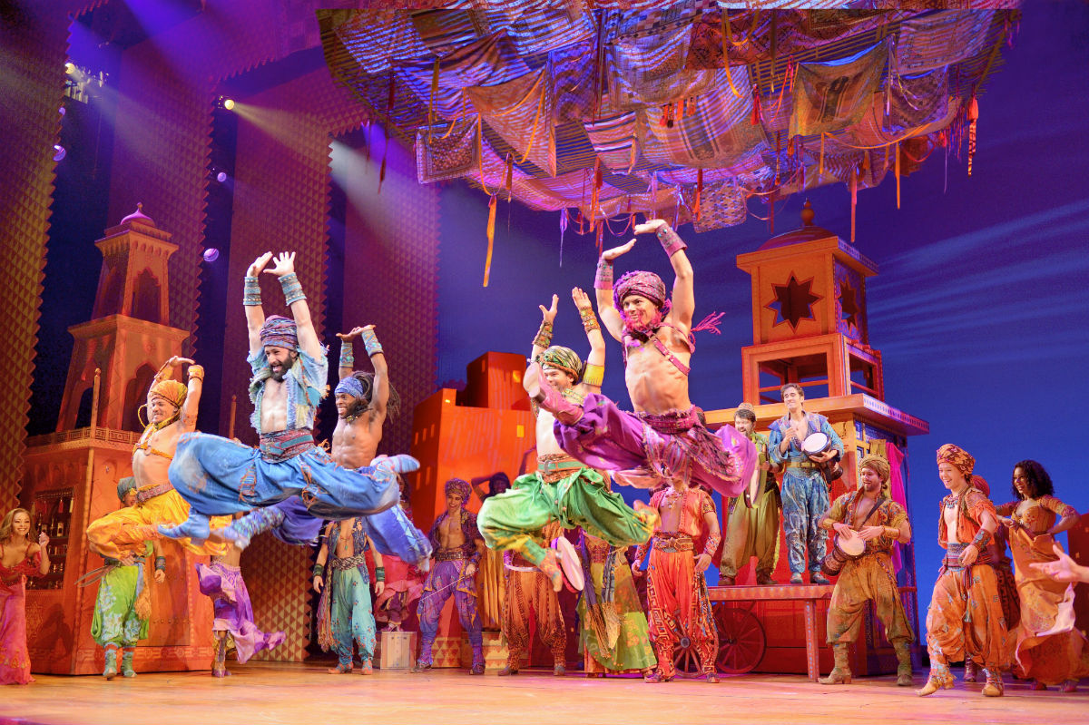 """Arabian Nights,"" from the musical ""Aladdin,"" through July 1 at the Academy of Music."