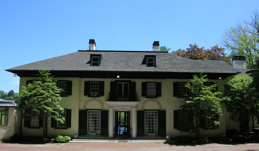 The front of the Willows mansion in Villanova, Pa.