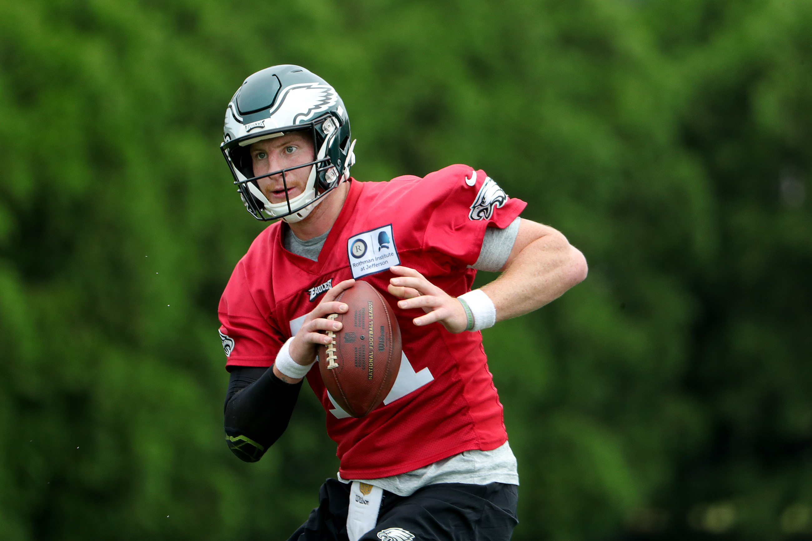 Carson Wentz, roughly six months removed from knee surgery, has impressed during minicamp.