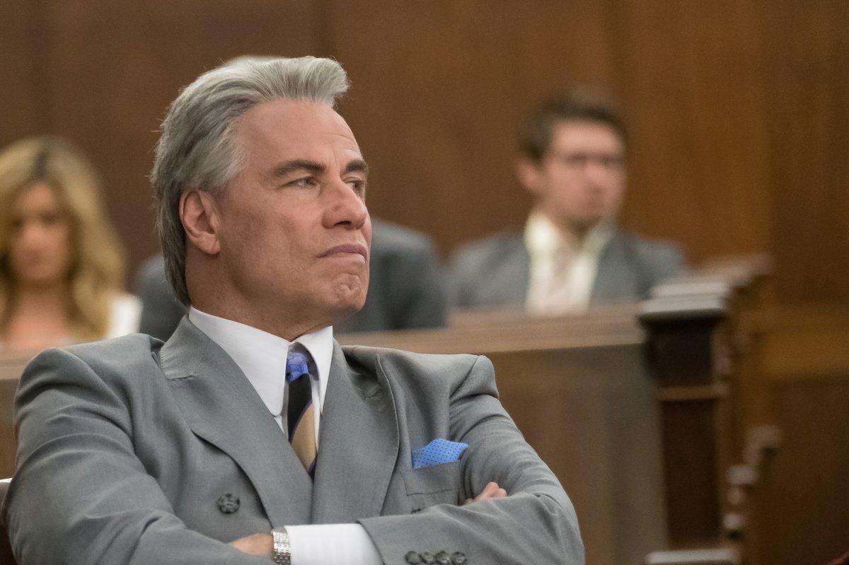 John Travolta is mobster John J. Gotti in the film 'Gotti.'