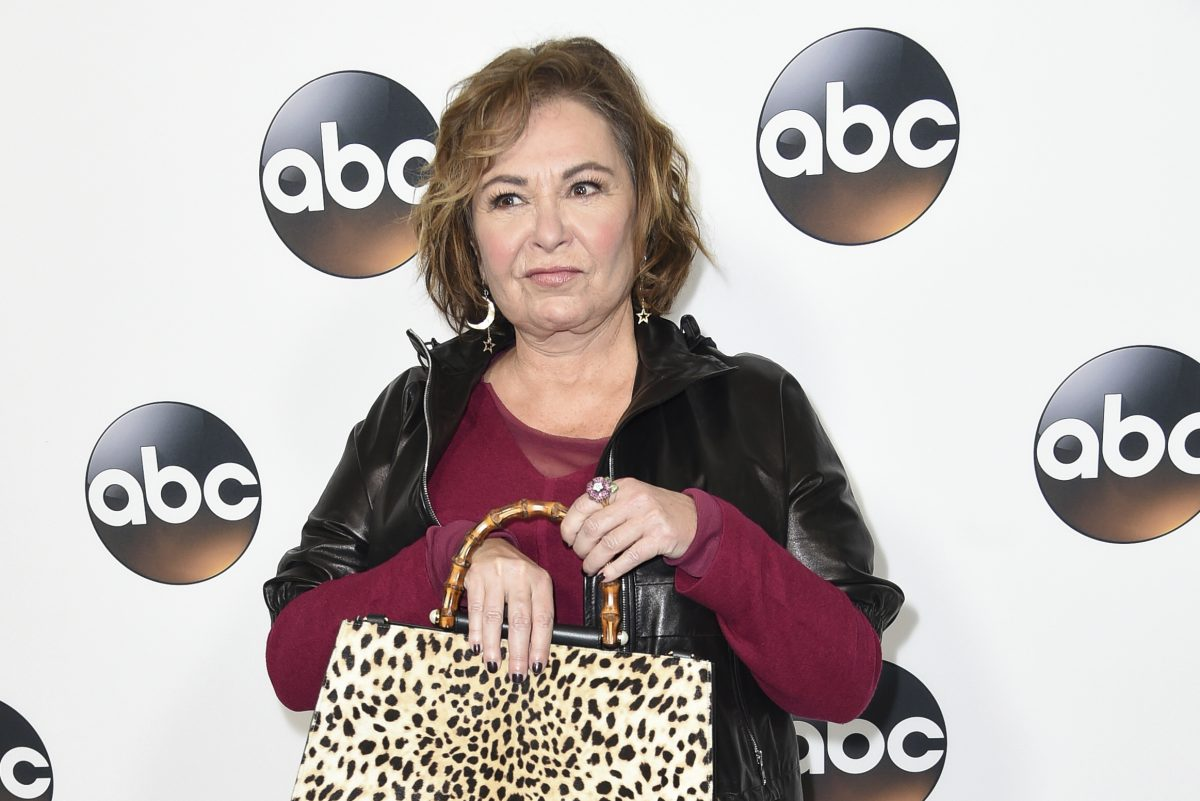 In this Jan. 8, 2018 file photo, Roseanne Barr attends the ABC All-Star Party arrivals during the Disney/ABC Television Critics Association Winter Press Tour in Pasadena, Calif.