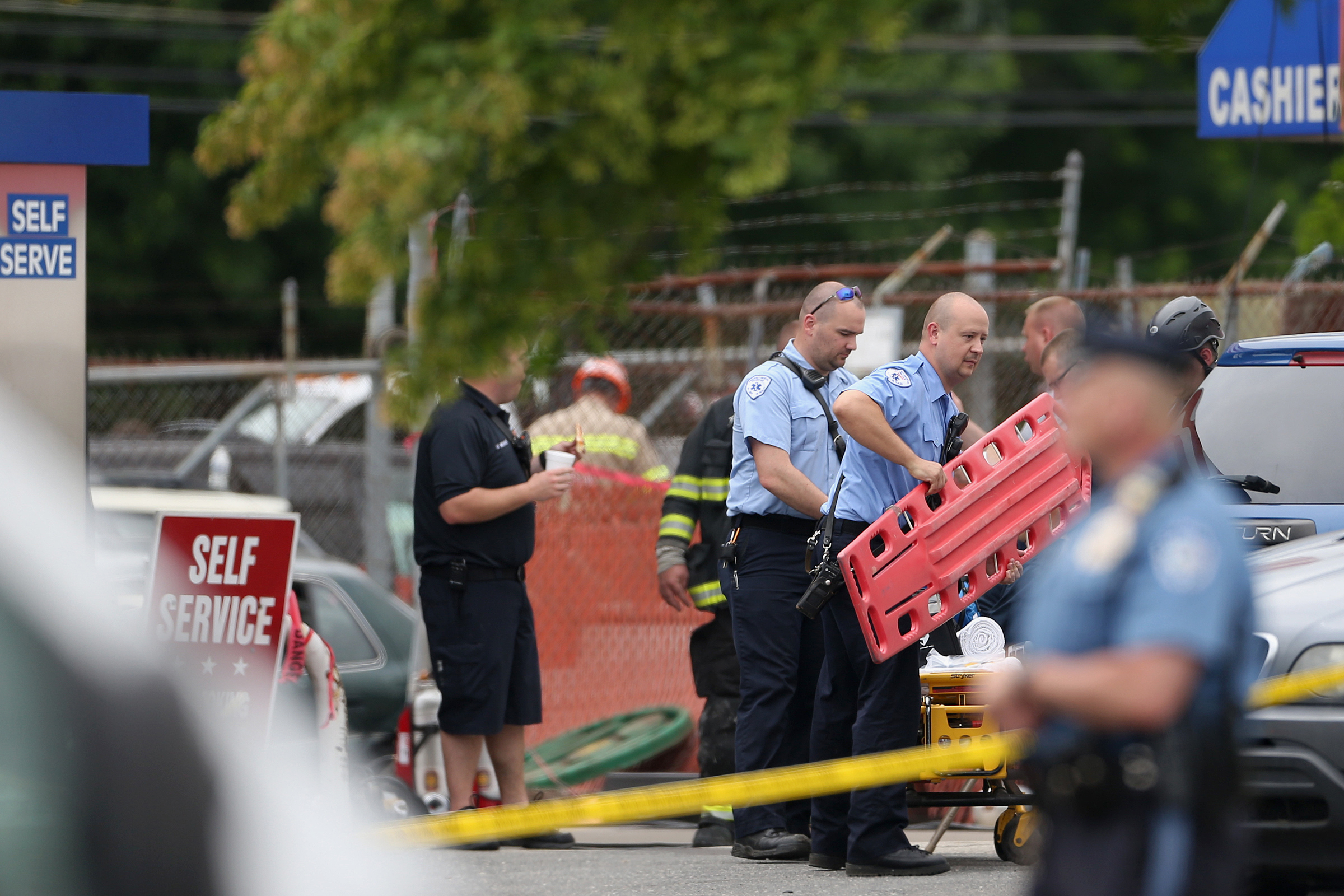 Crews from across Bucks County aided in the efforts to recover Joe Vigilante´s body Wednesday.