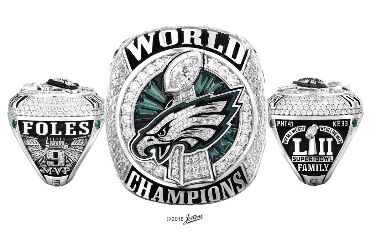 The Eagles' Super Bowl ring.
