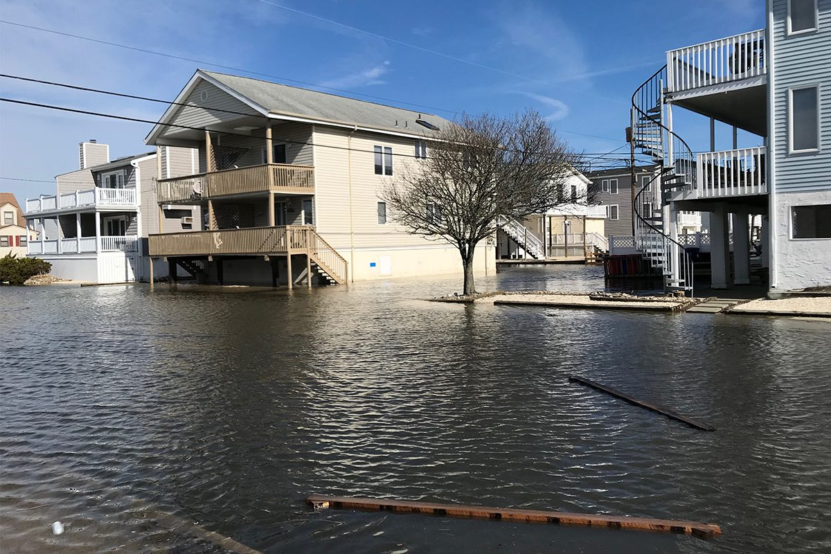 Flooding after high tide at 30th Street and West Avenue in Ocean City in March.