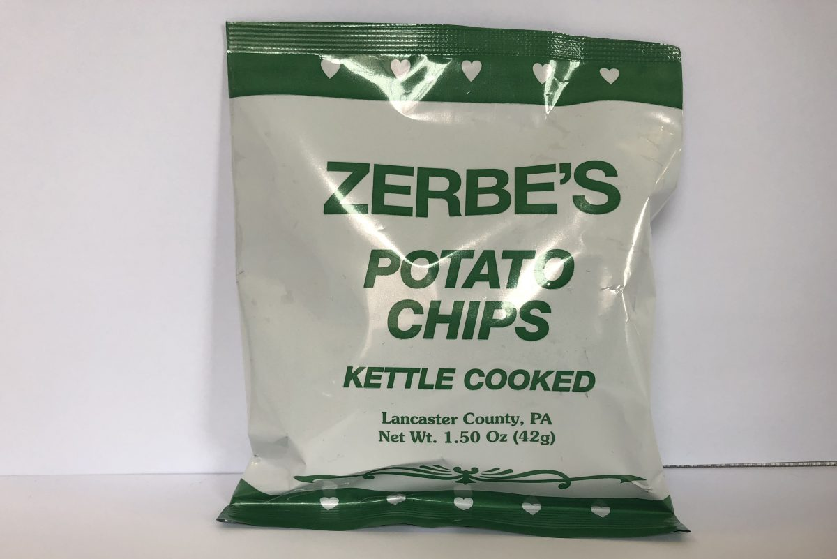Zerbe's kettle cooked potato chips.