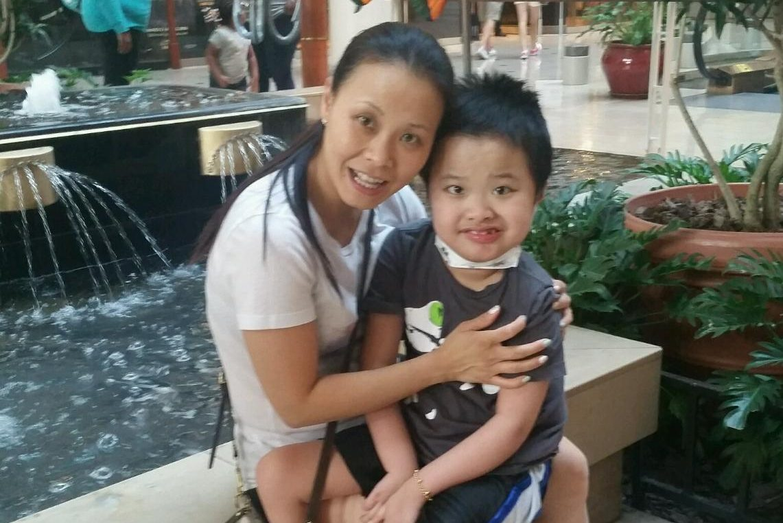 Anna Auyeung and her son Jayden, 10.