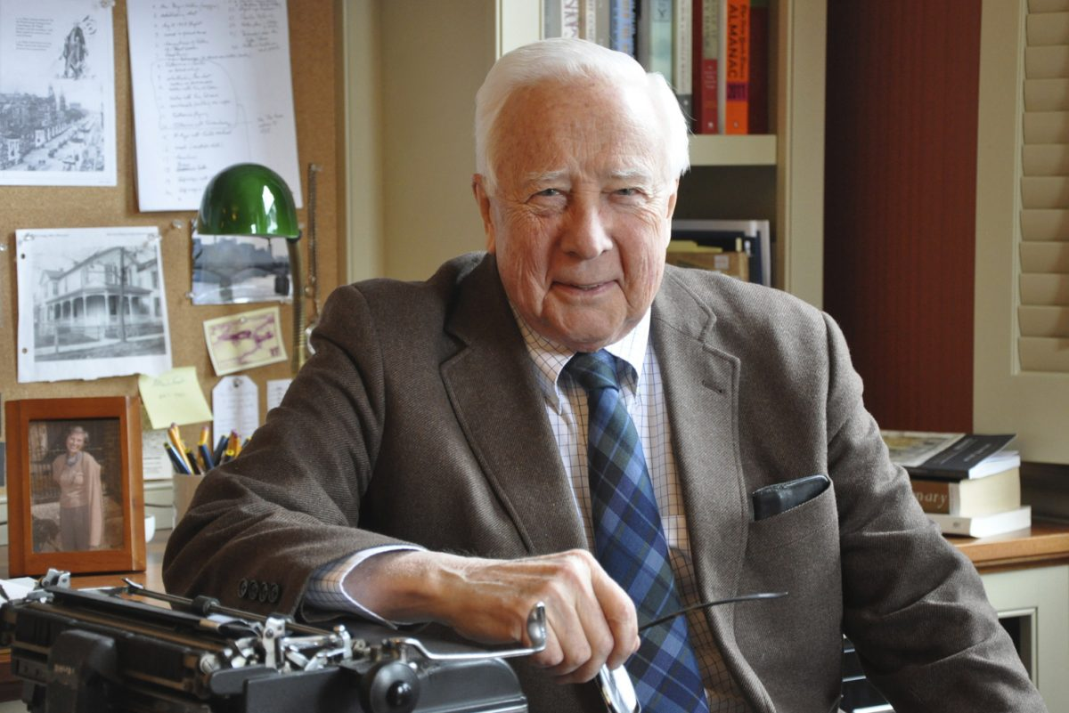 Author David McCullough, after whom the new Carpenters' Company prize in American history is named. (Photo by William B. McCullough)
