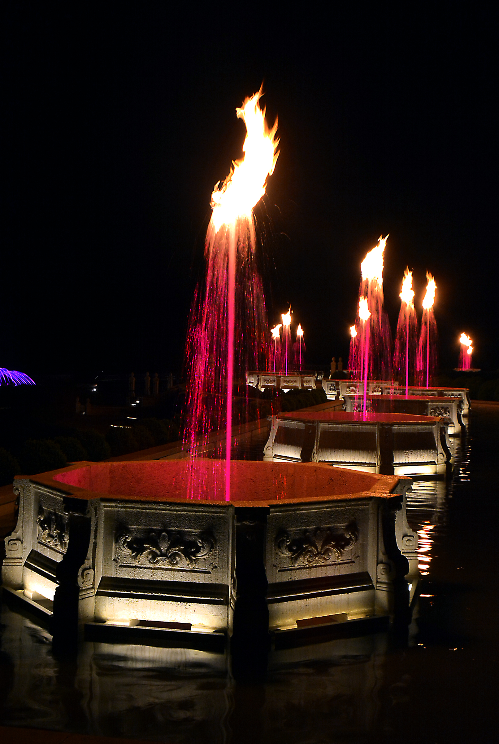 The Spectacular New Illuminated Fountains With Flames Choreographed To  Music At Longwood Gardens Mark A Dramatic Moment In The Longwood  Restoration.
