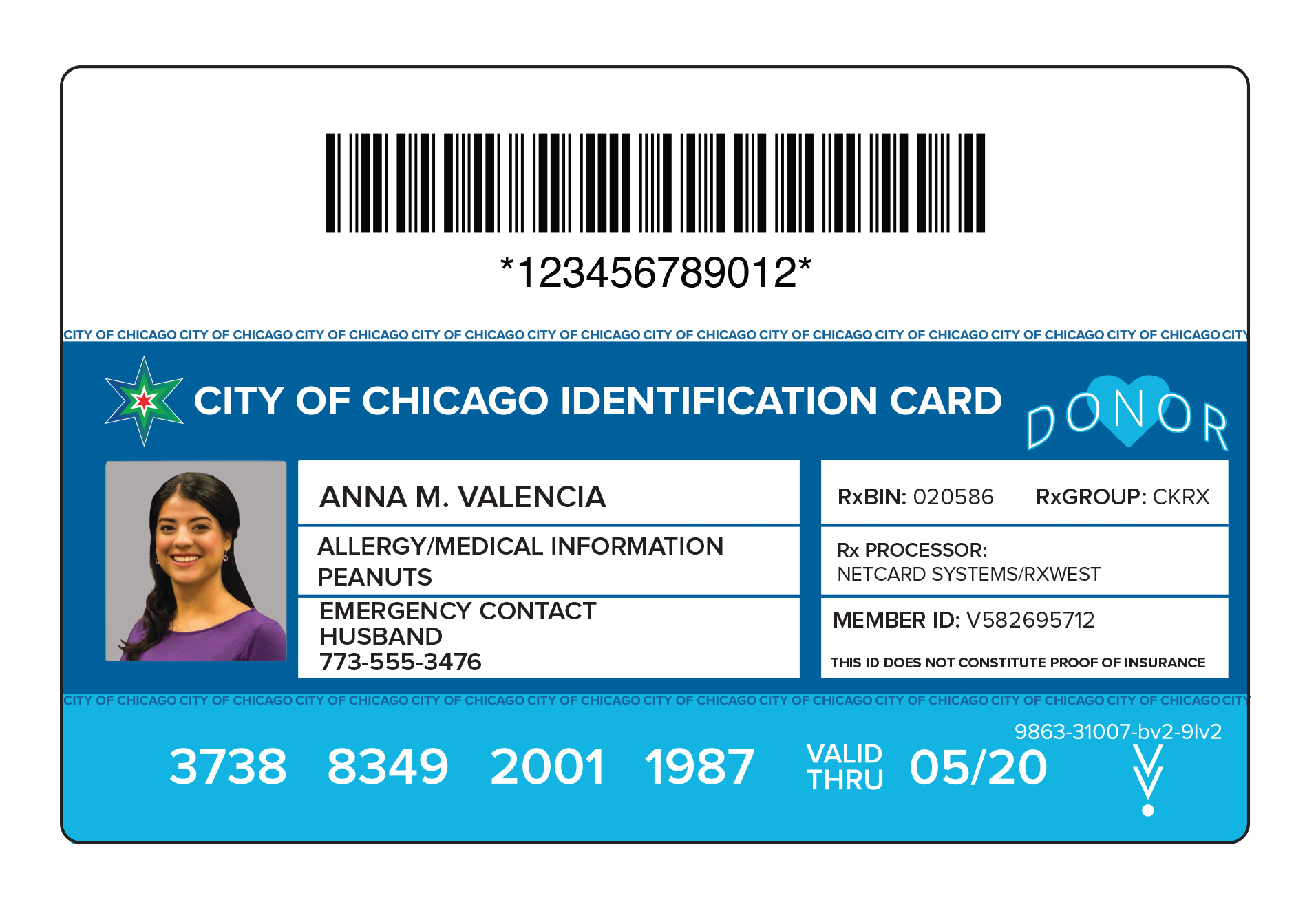 Philadelphia has hired the same vendor Chicago is using to distribute municipal ID cards to residents. This rendering shows an example of Chicago´s card.
