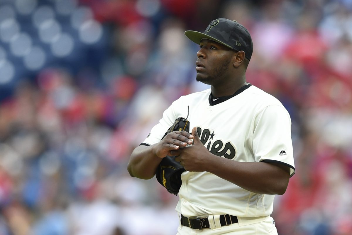 Struggling reliever Hector Neris was optioned to triple-A Lehigh Valley Monday.