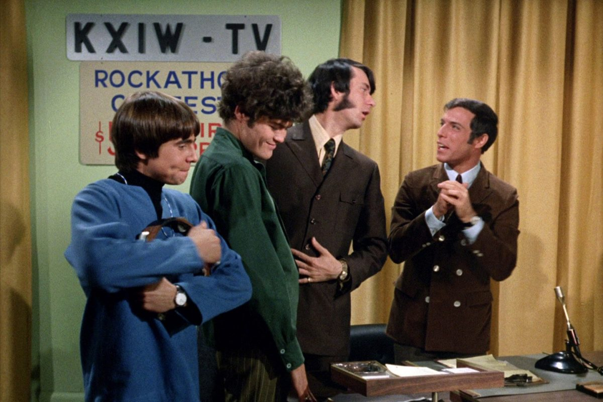 "Davy Jones, Micky Dolenz, Mike Nesmith and Jerry Blavat on ""The Monkees"""