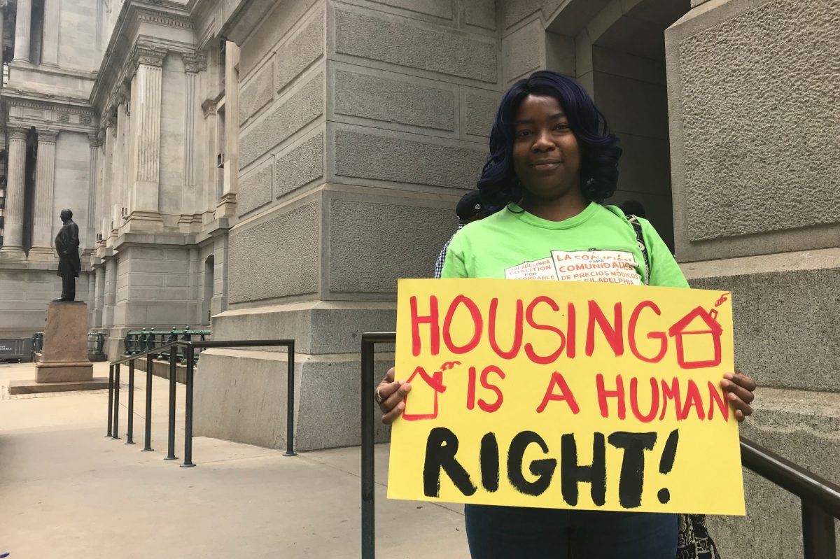 Angelita Ellison testified before City Council members Wednesday about the difficulty finding affordable housing in Point Breeze. Council is considering a 1 percent impact tax on all new construction.