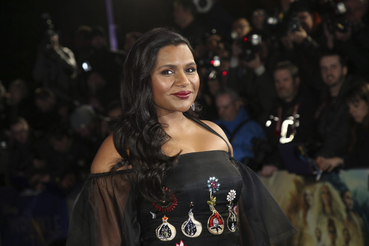 "Actress Mindy Kaling poses for photographers upon arrival at the premiere of the film ""A Wrinkle In Time"" earlier this year. In a tweet this week, she hinted at possible involvement in ""It's Always Sunny in Philadelphia"" next season."