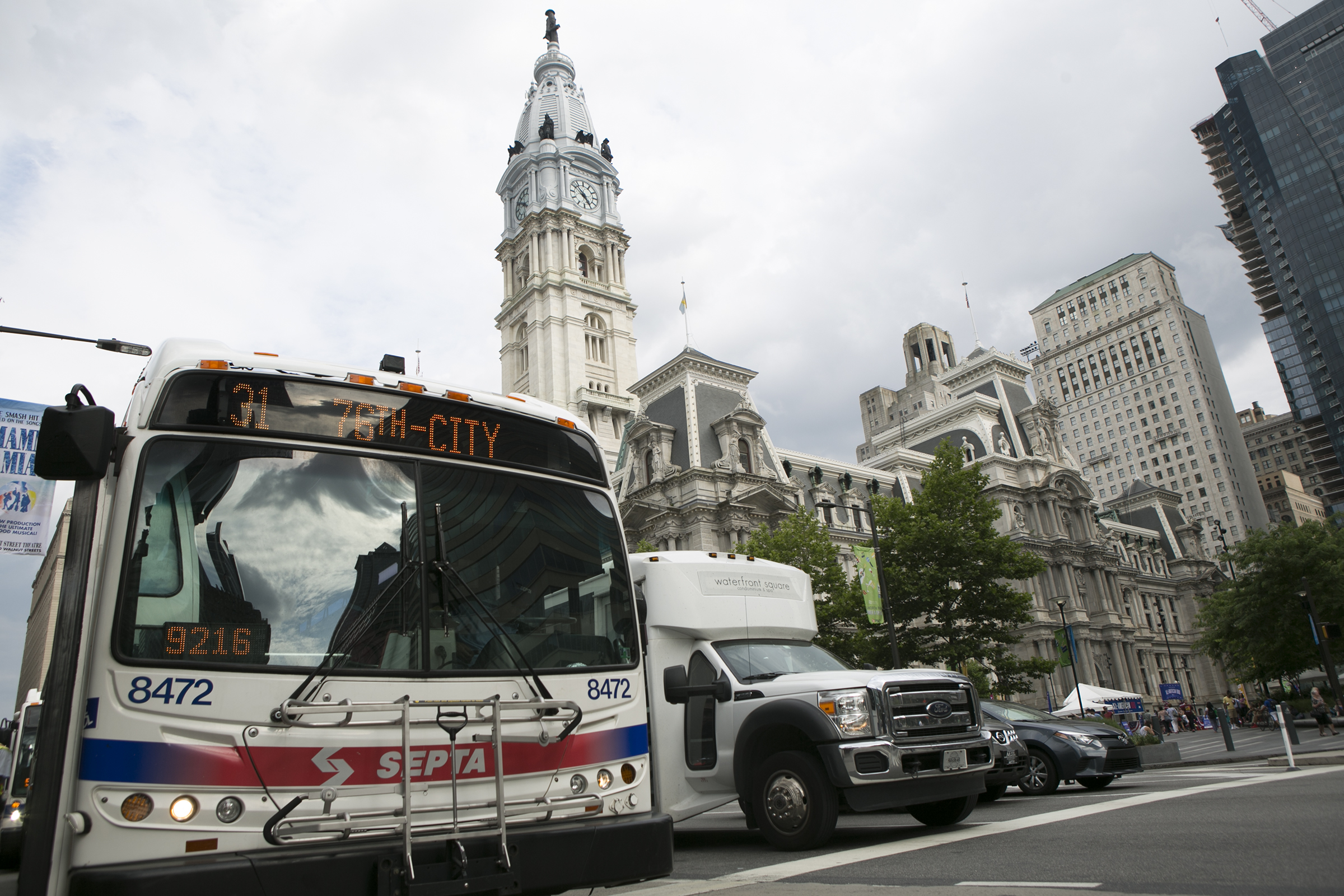 SEPTA buses on the afternoon of Wednesday, June 20, 2018.