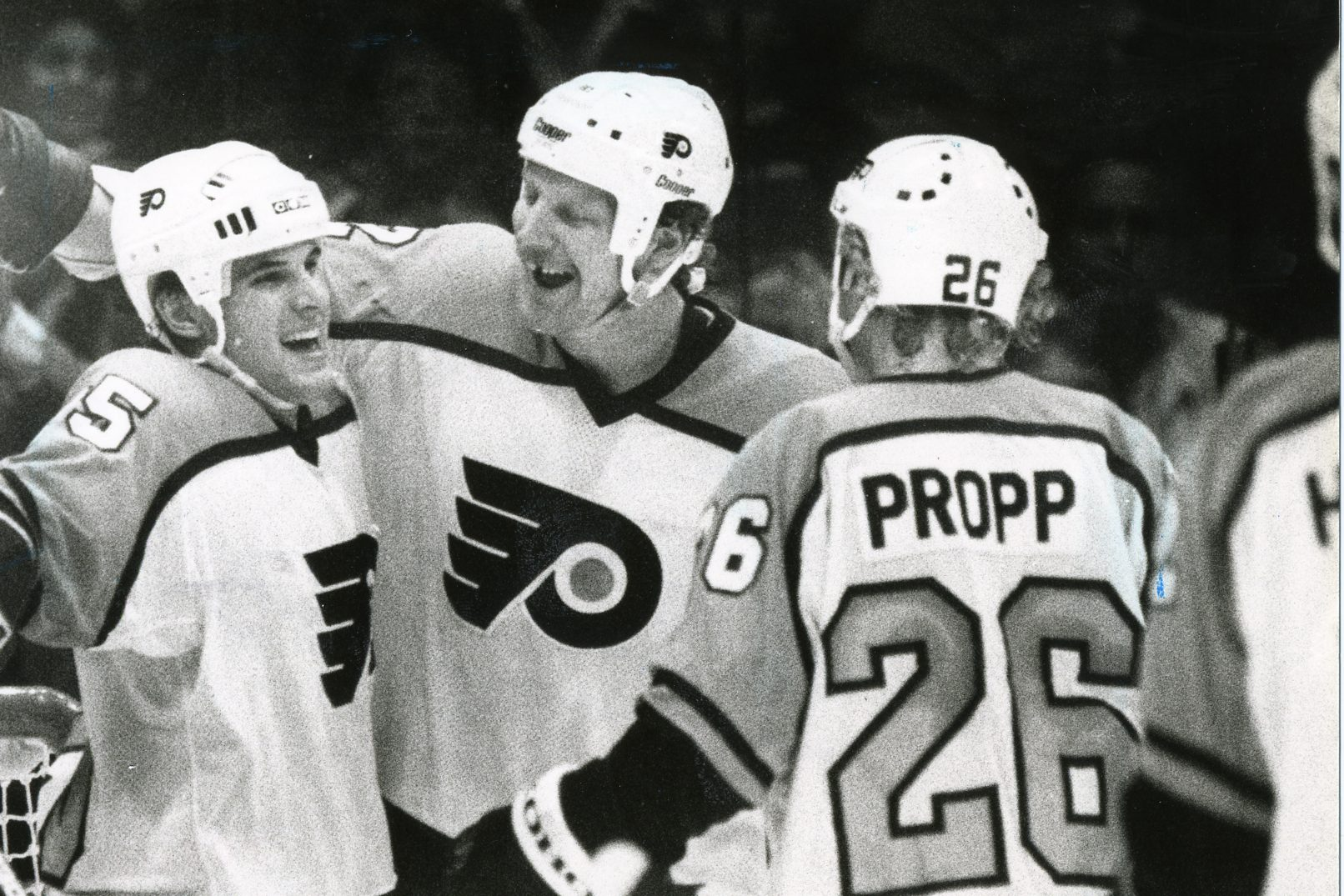 The Flyers struck gold when they took Brian Propp, shown at the right in this file photo with Peter Zezel (left) and Tim Kerr, with the No. 14 overall pick in 1979. They pick 14th in Friday´s draft.