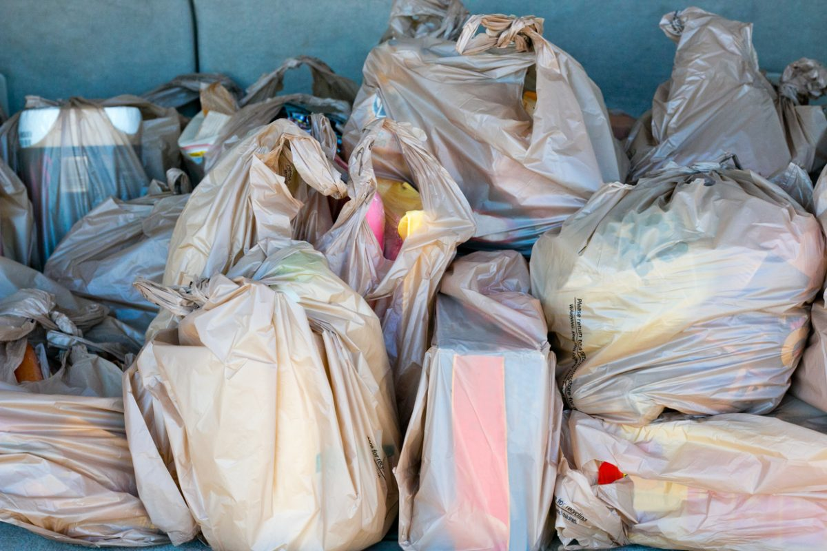 A single-use plastic bag. New Jersey lawmakers have passed legislation that would impose a 5-cent fee on the bags in stores. The bill will go to Gov. Murphy.