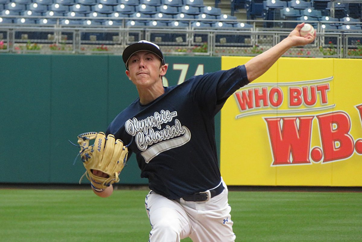 Collingswood´s Alex Margot pitched the first three innings in the Olympic-Colonial´s semifinal win over Delaware North.