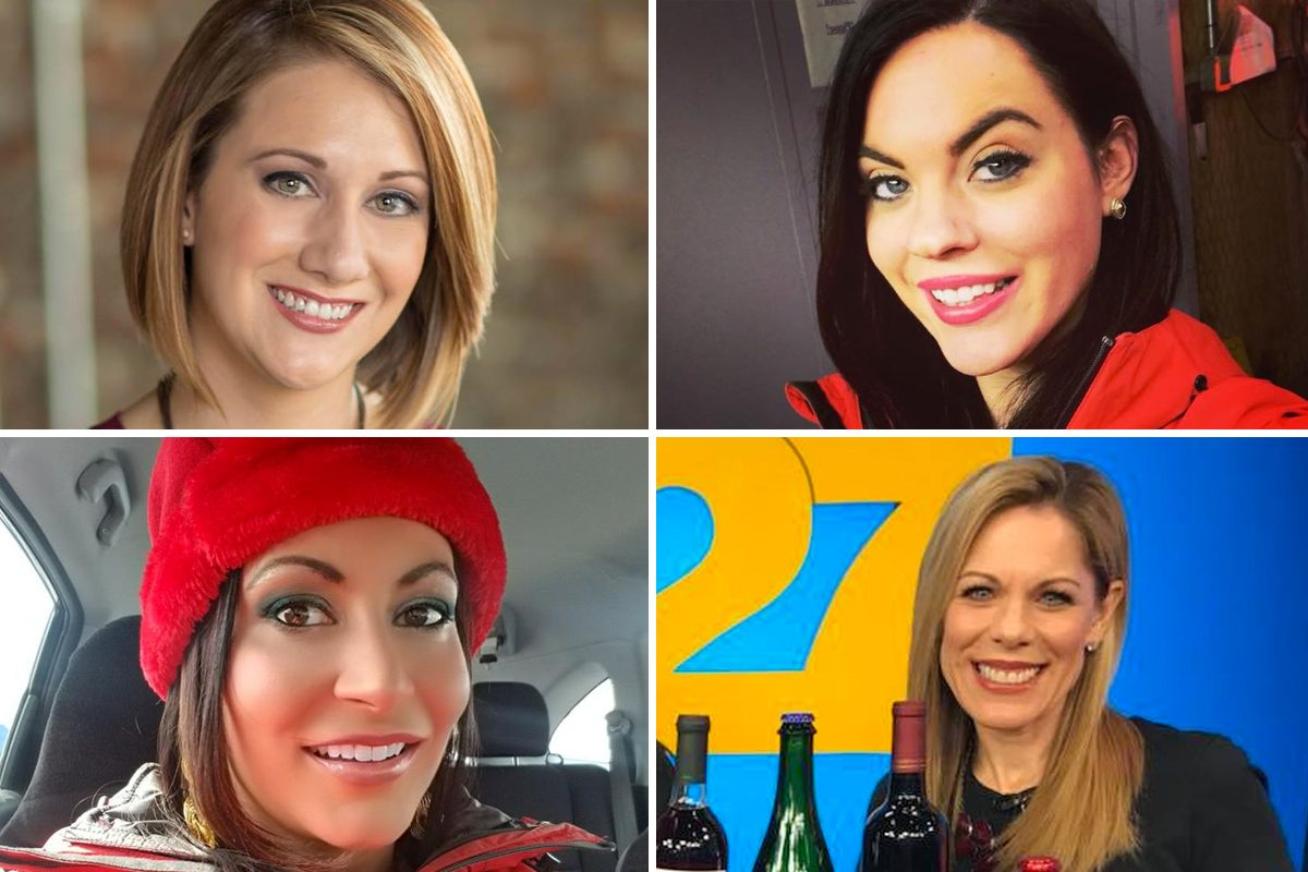 (Clockwise from top left) Former abc27 personalities Amanda St. Hilare, Megan Frank, Carrie Perry and Dawn White. They are among the 11 employees who have departed the station since March, when allegations of harassment and verbal abuse first surfaced.