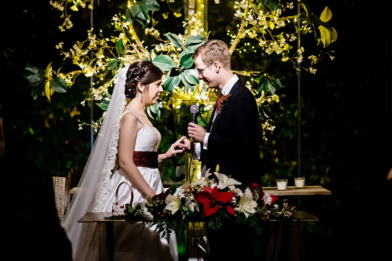 Tamara Lozano and Eric Stachura at their wedding in Spain.