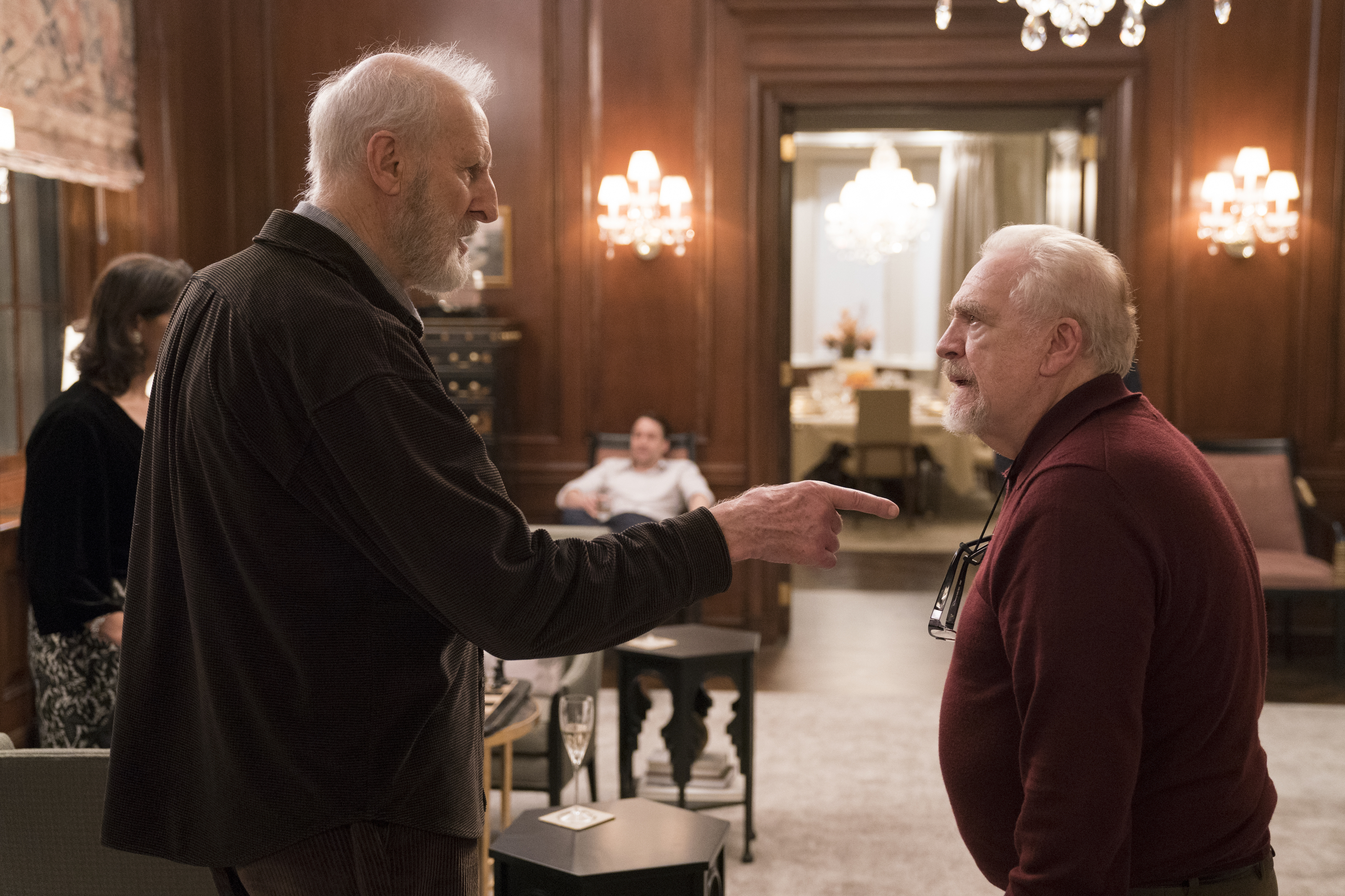 "James Cromwell and Brian Cox in HBO´s ""Succession"""
